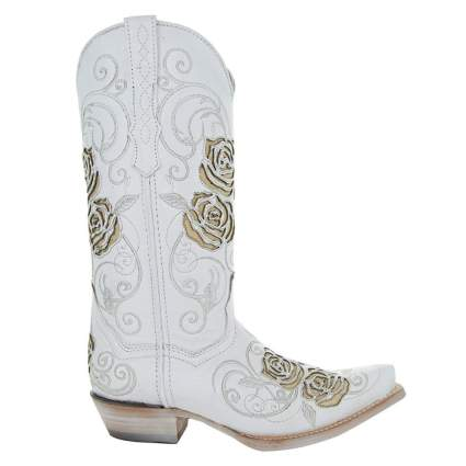Turquoise Rose Country Cowgirl Boots