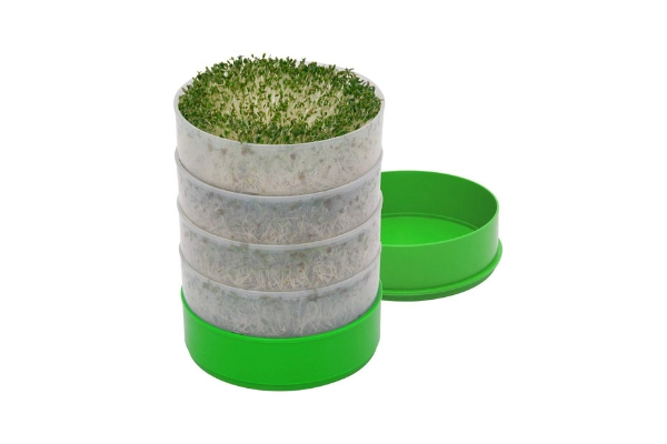 Sprouts Germinator tray Plate Canister 5 pairs Seeder Grower Non-toxic