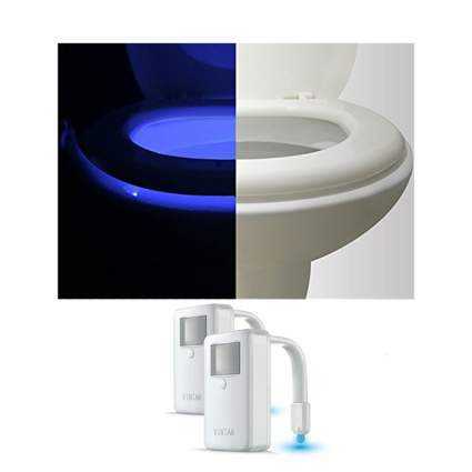 Light up toilet bowl lights
