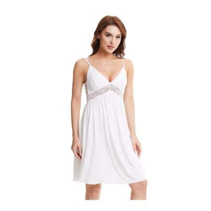 white bamboo slip dress