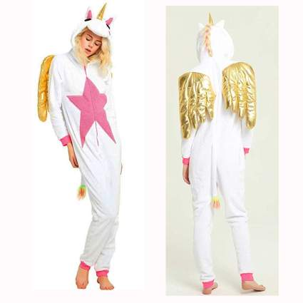 gold winged unicorn onesie