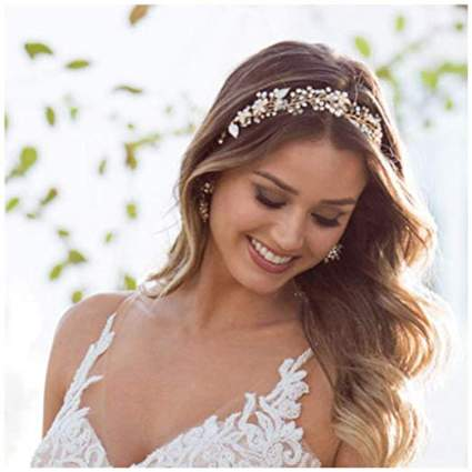 Gold Bridal Headband Bohemian Headpiece