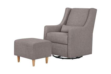 Babyletto Toco Upholstered Swivel Glider & Stationary Ottoman