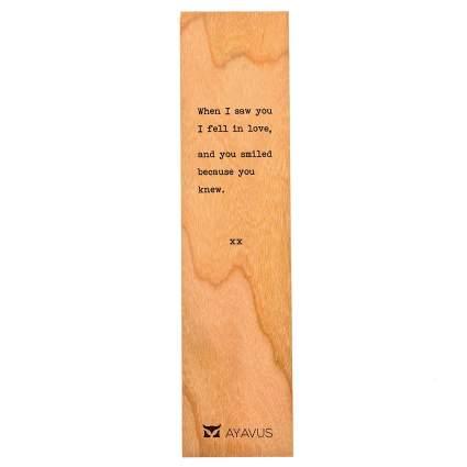 Wooden Bookmark Minimalist Quotes