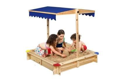Costzon Kids Wooden Sandbox