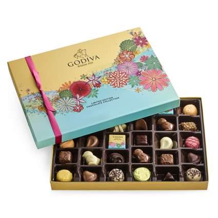 spring Godiva chocolate box