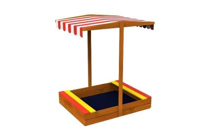 Wooden Sandbox with Roof