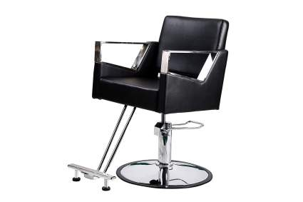 black hair styling chair