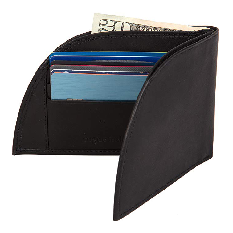 HENGSONG PU Leather Wallet Credit Card Banknote Pocket Zipped Coin Purse Storage Bag Case,Black