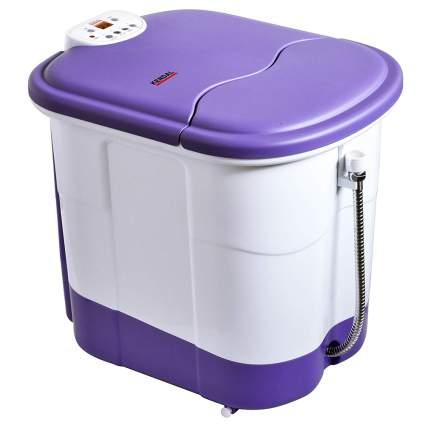purple and white foot bath