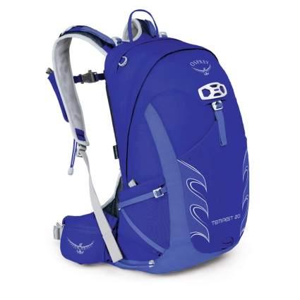 blue Osprey backpack for women
