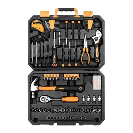 Orange and blackt toolset box