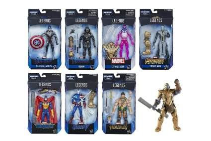 Avengers: Endgame Marvel Legends Wave 1 Set of 7 Figures (Thanos BAF)