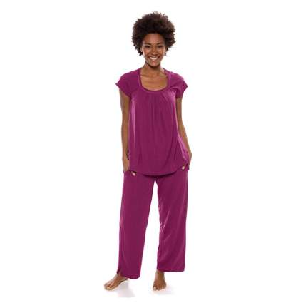 raspberry two piece bamboo pajamas