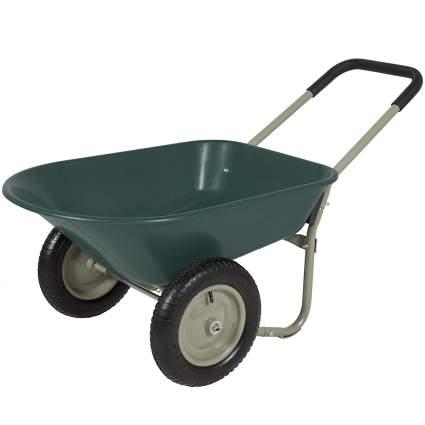 Best Choice Products Dual Wheel Home Wheelbarrow