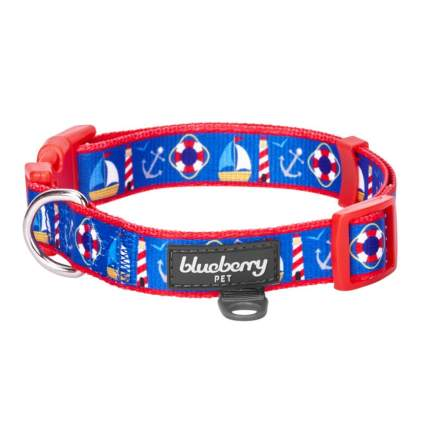 Blueberry pet nautical theme cool dog collars
