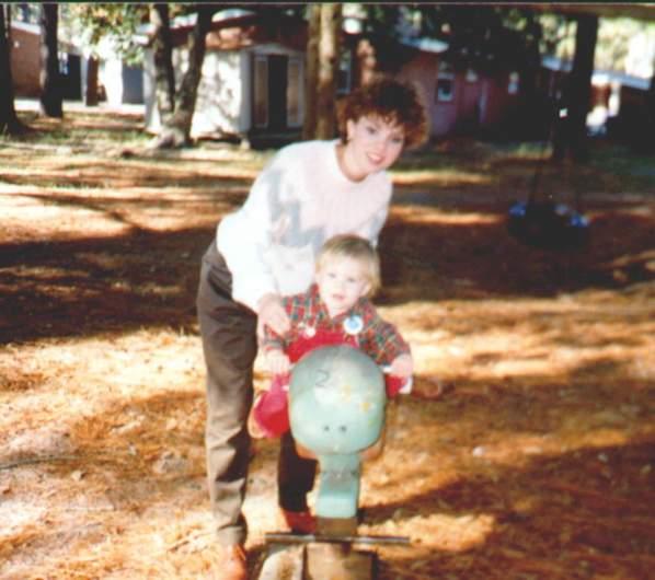 Bonnie Haim with infant son Aaron