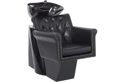 Black armchair style shampoo station
