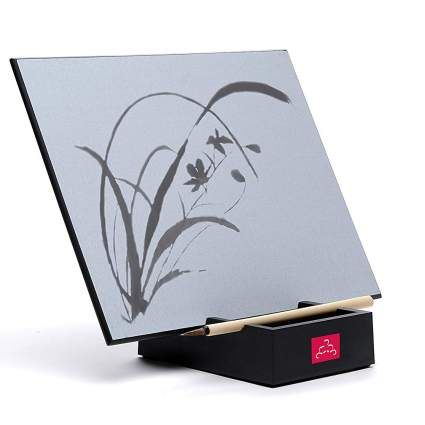 Buddha Board easel with painting