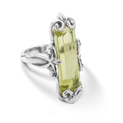 sterling silver and lemon quartz ring