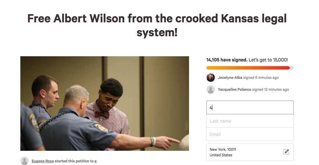 Albert wilson petition