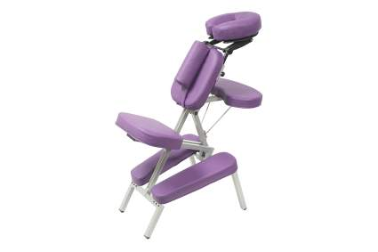 purple chair for massage