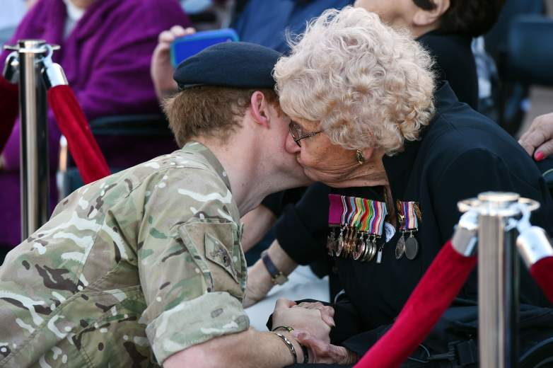 Prince Harry with Daphne Dunne.