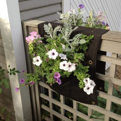 Delectable Garden 2 Pocket Saddlebag Hanging Planter