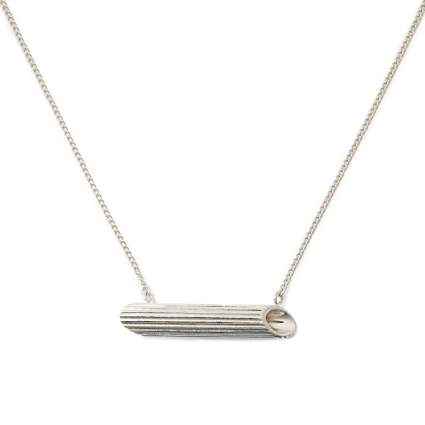 Penne necklace in silver