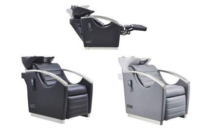three salon shampoo units