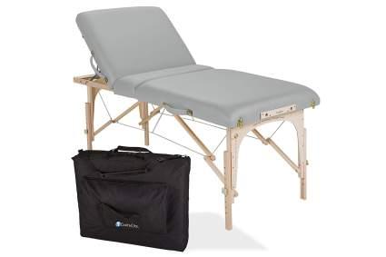 grey tilting massage table