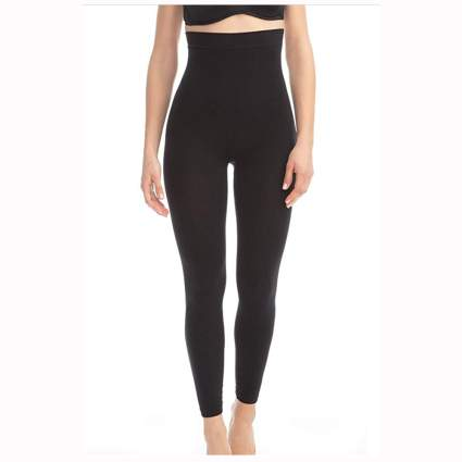 black micromassaging leggings