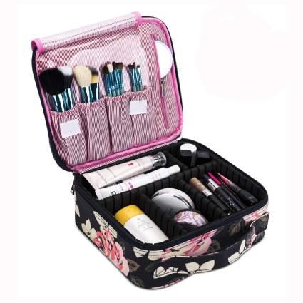 floral print cosmetics travel bag
