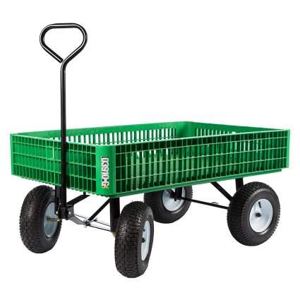 flatbed garden cart
