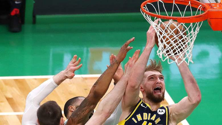 Domantas Sabonis #11 of the Indiana Pacers
