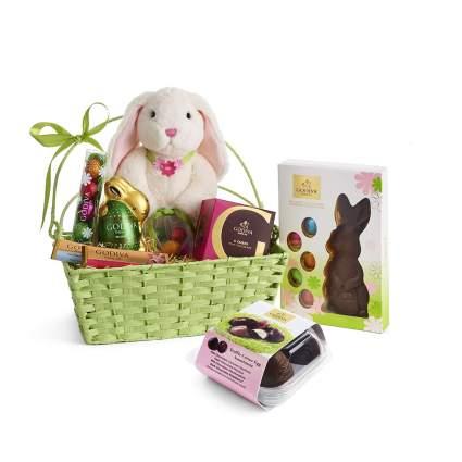 Basket of Godiva Chocolate with stuffed bunny