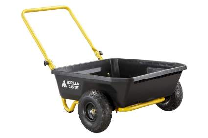 Gorilla Carts GCR-4 Poly Yard Cart