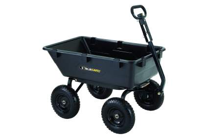 Gorilla Carts Heavy-Duty Poly Yard Dump Cart