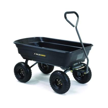 four wheel poly garden cart