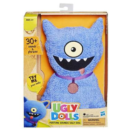 Hasbro Uglydolls Feature Sounds Ugly Dog, Stuffed Plush Toy That Talks