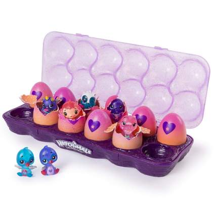 Hatchimals CollEGGtibles, 12 Pack Easter Egg Carton with Exclusive Season 4 Hatchimals CollEGGtibles