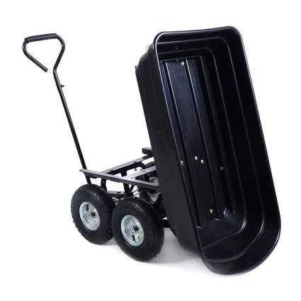 hello world1 650LB Garden Dump Cart Dumper Wagon