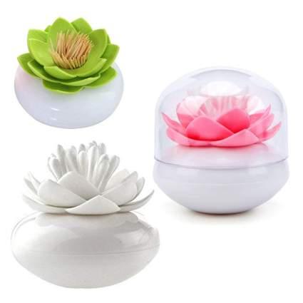 Lotus shaped toothpick holders