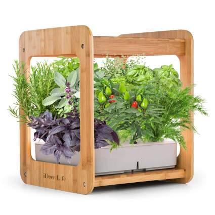 Wooden indoor planter