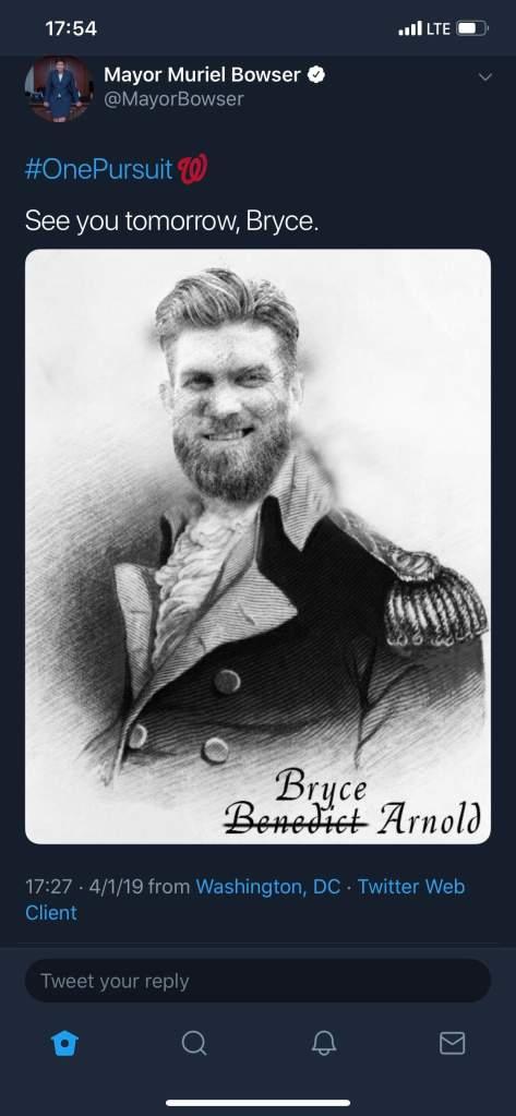 bryce harper, muriel bowser
