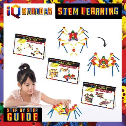 IQ BUILDER STEM Learning Toys Creative Construction Engineering Fun Educational Building Toy Set