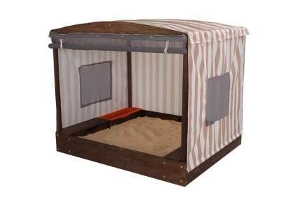 KidKraft Cabana Sandbox, Oatmeal and White Stripes