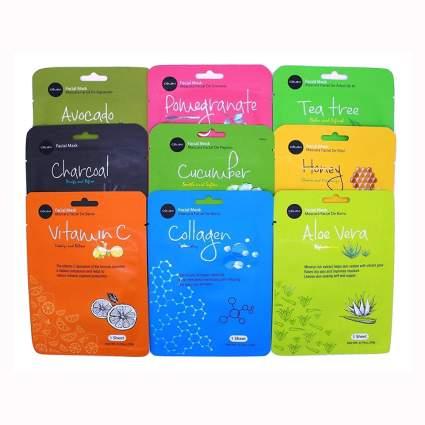 korean essence sheet mask set