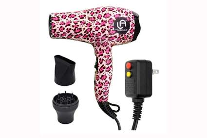 pink leopard ceramic ionic dryer and diffuser