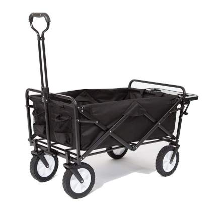 Mac Sports Collapsible Utility Wagon with Side Table